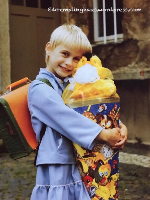 Stolzes Schulkind 1987