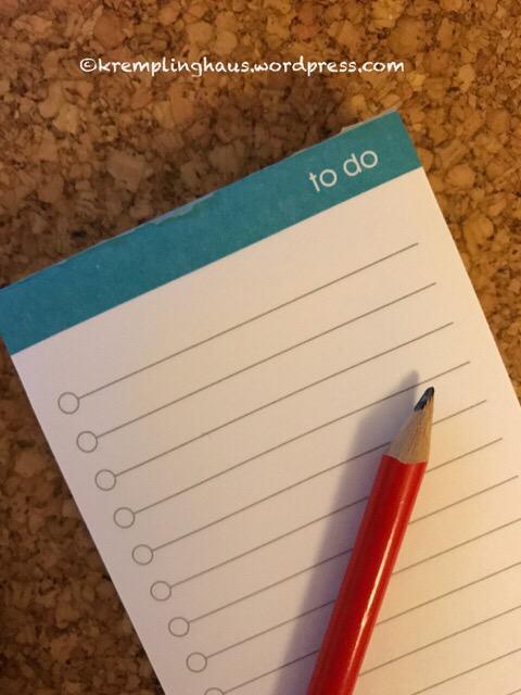 To do Liste schreiben #todoliste