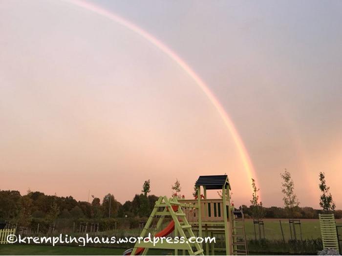 Regenbogen Abendrot