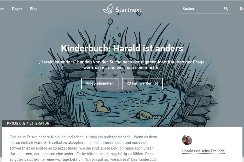 Harald ist anders, Startnext, Crowdfounding
