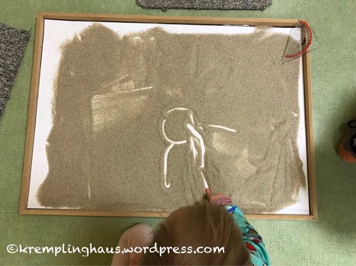 Kindergarten, Wellness, Sandmalerei