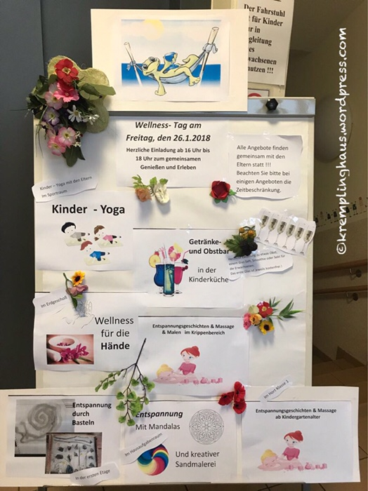 Wellness, Kindergarten, Programm