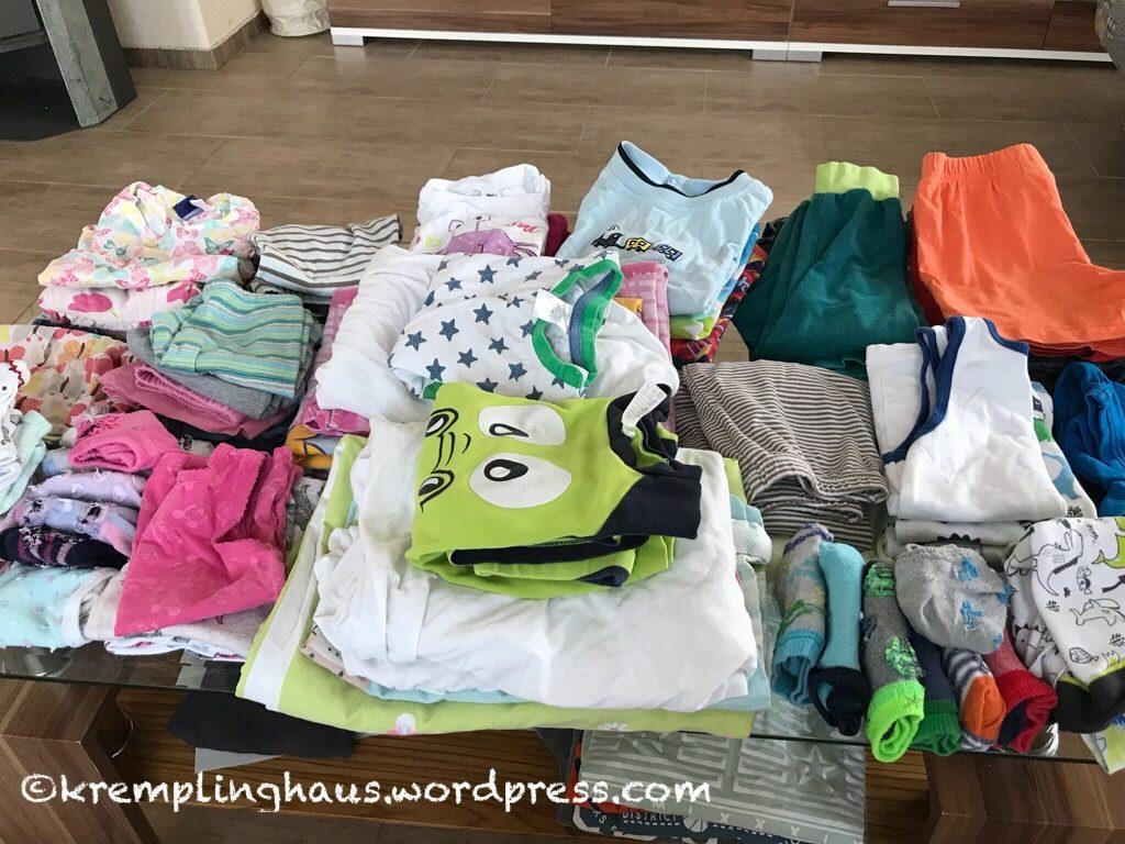 Wäsche zusammenlegen