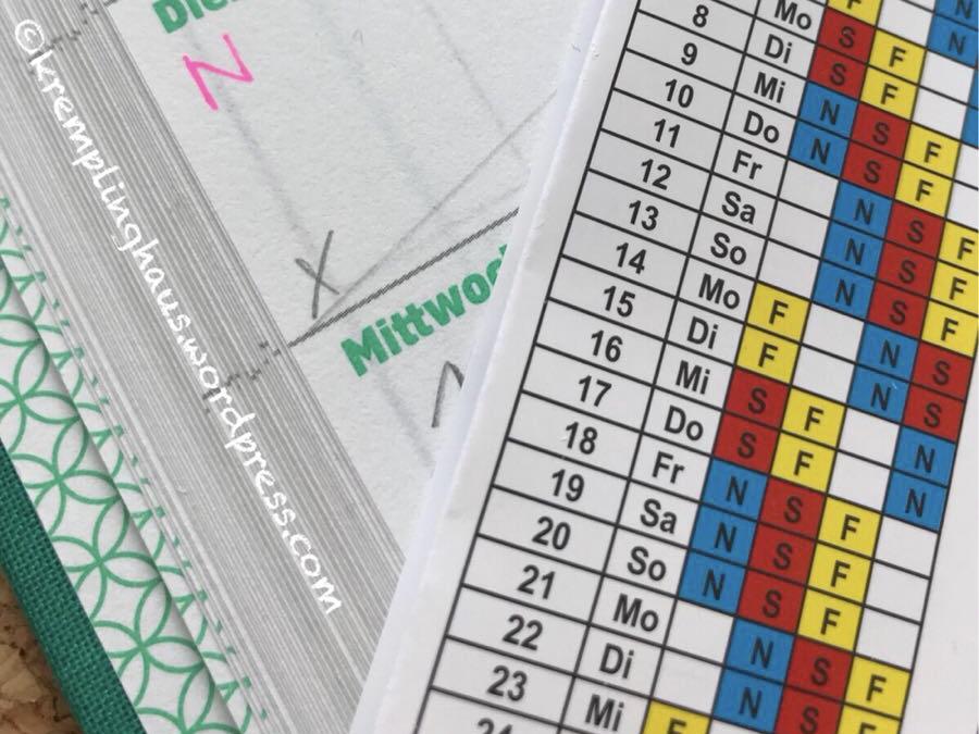 Schichtplan und Kalender