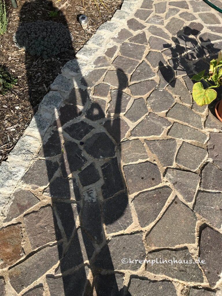 Schattenbild mit Gießkanne