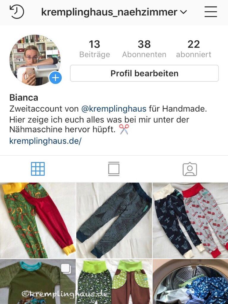 Instagram Profil Kremplinghaus_naehzimmer