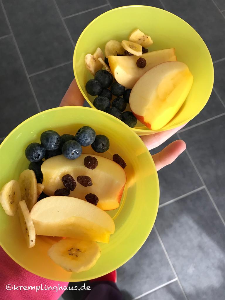 2 Schüsseln mit Obst
