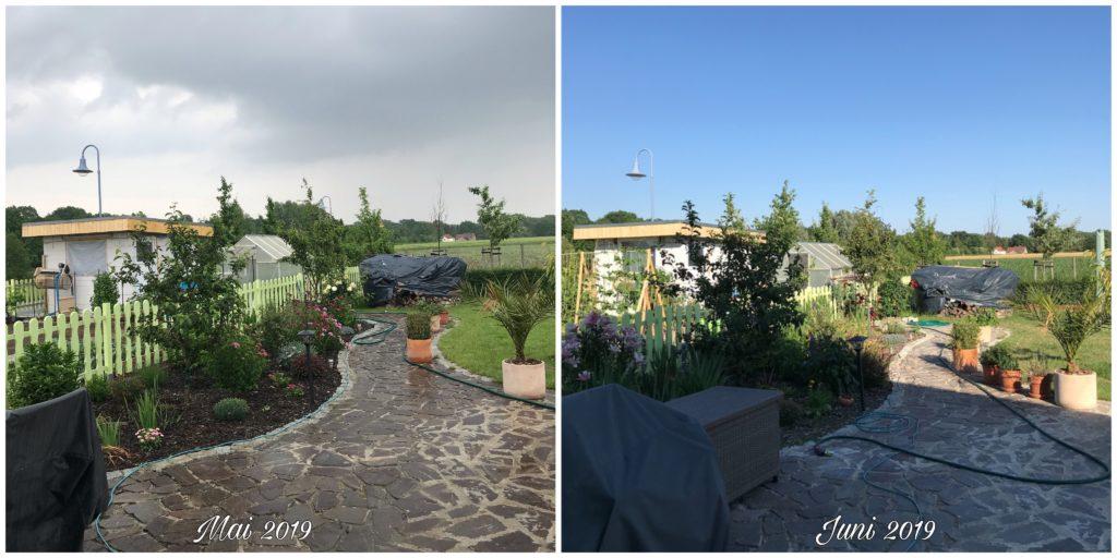 Terrasse Mai versus Juni