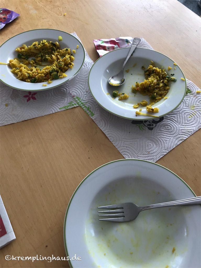 Reste vom Mittagessen