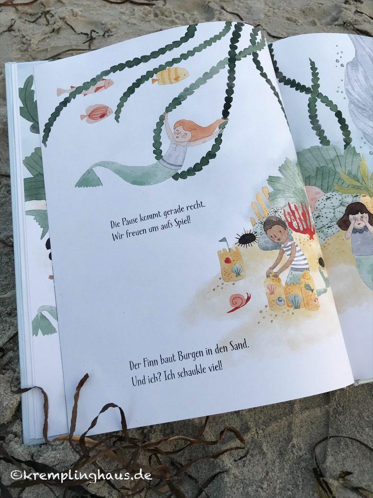 Buchseite Meerjungfrauenschule