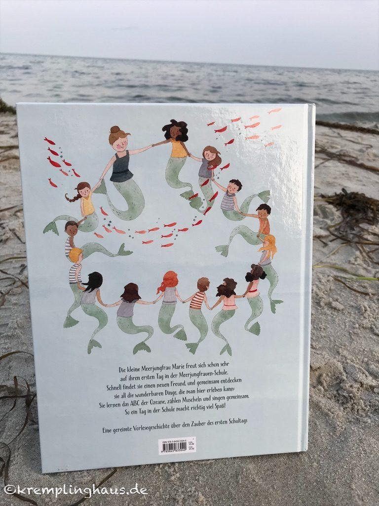 Buchrückseite Meerjungfrauen-Schule