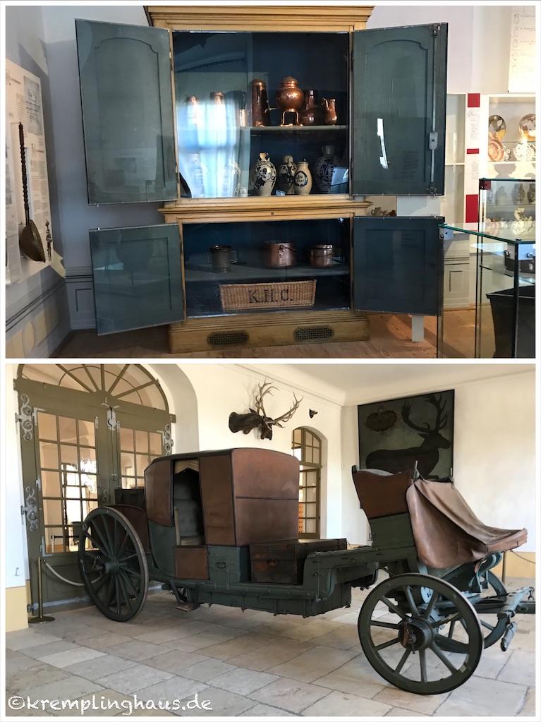 Ausstellung Schloss Moritzburg mit Kutsche
