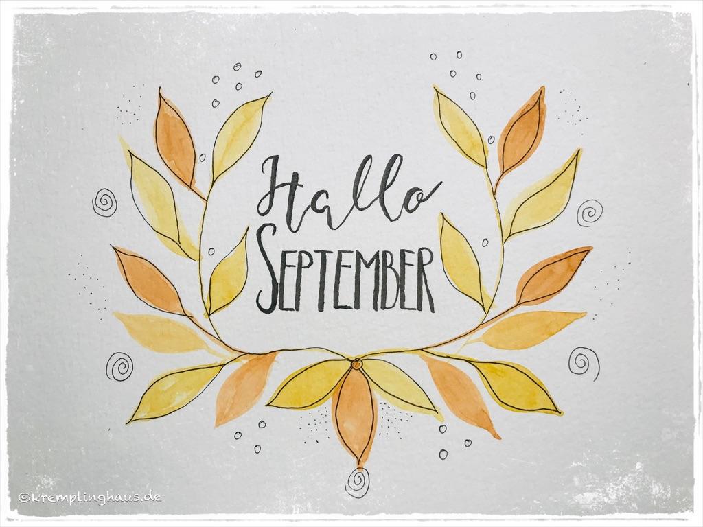 Hallo September Blätterranke