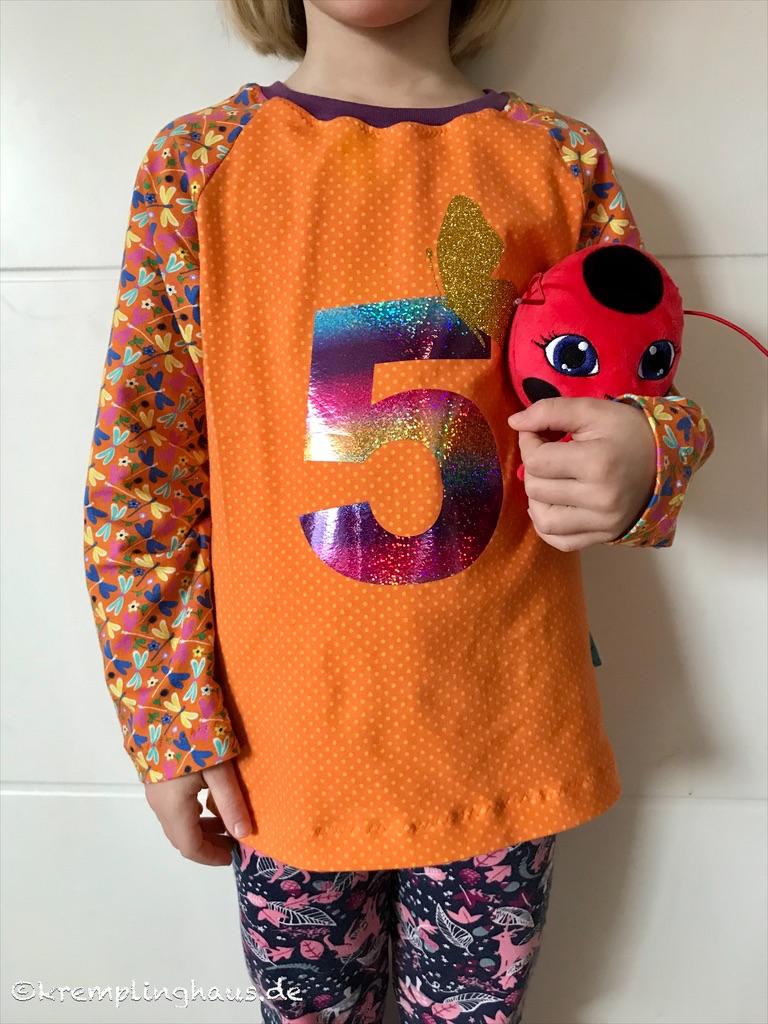 Geburtstagsshirt 5. Geburtstag orange