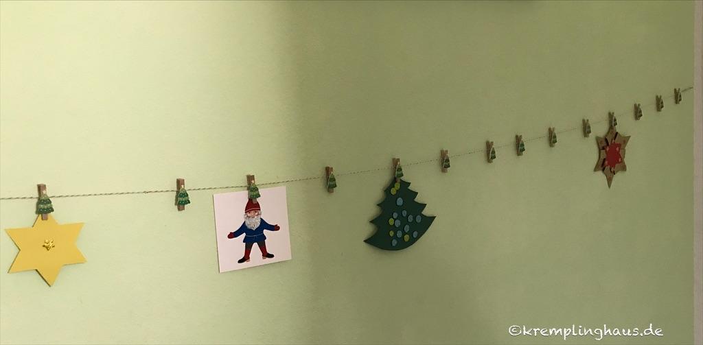Klammerkette für Weihnachtskarten