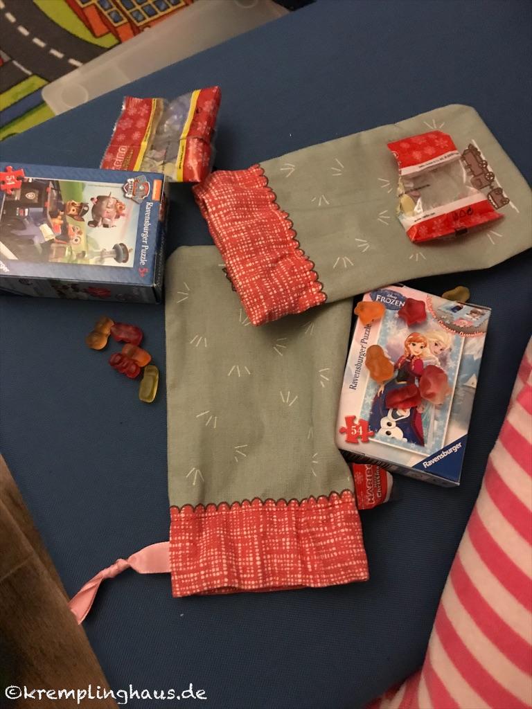 Adventskalendersäckchen mit Puzzle