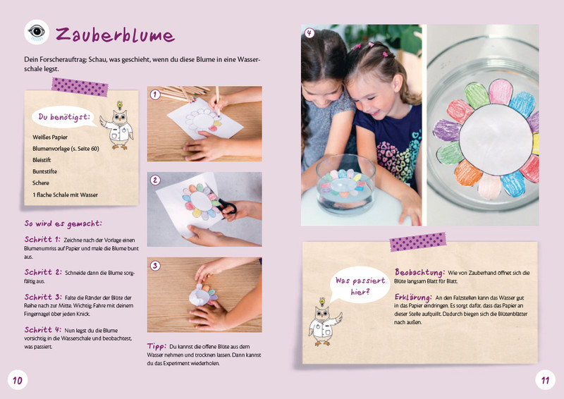 Experimentieren mit Kindern Zauberblume