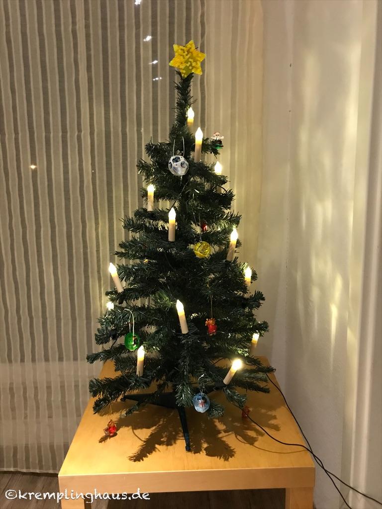 Kinderweihnachtsbaum vorher