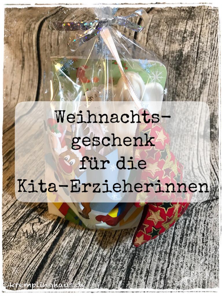 Weihnachtsgeschenk für die Kita-Erzieherinnen