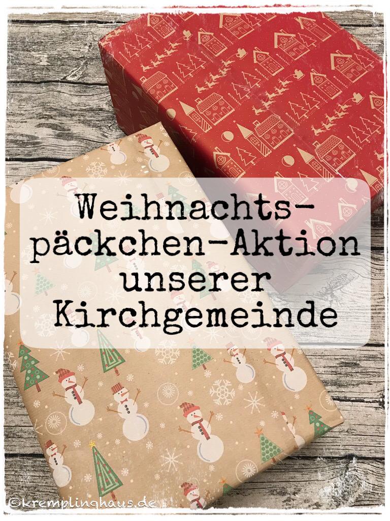 Weihnachtspäckchen-Aktion unserer Kirchgemeinde