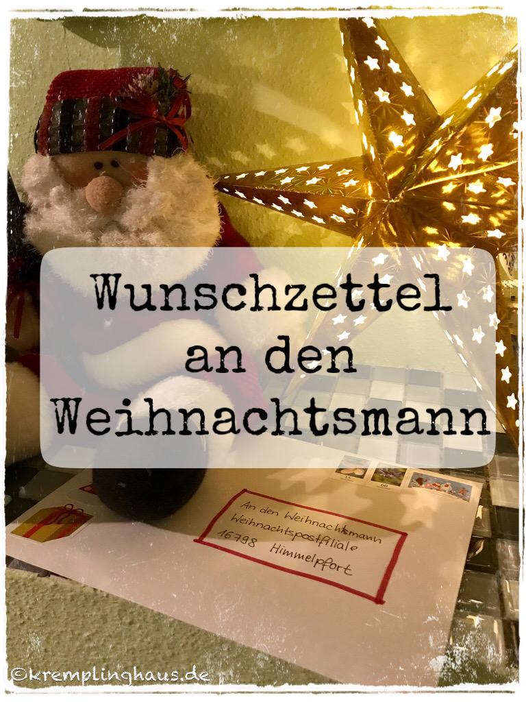 Wunschzettel an den Weihnachtsmann