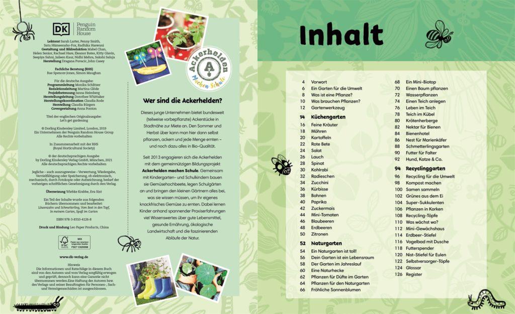 Inhaltsverzeichnis Buch Auf ins Beet