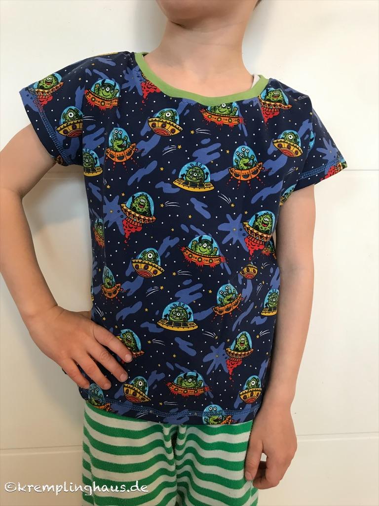 T-Shirt Sohn mit Aliens