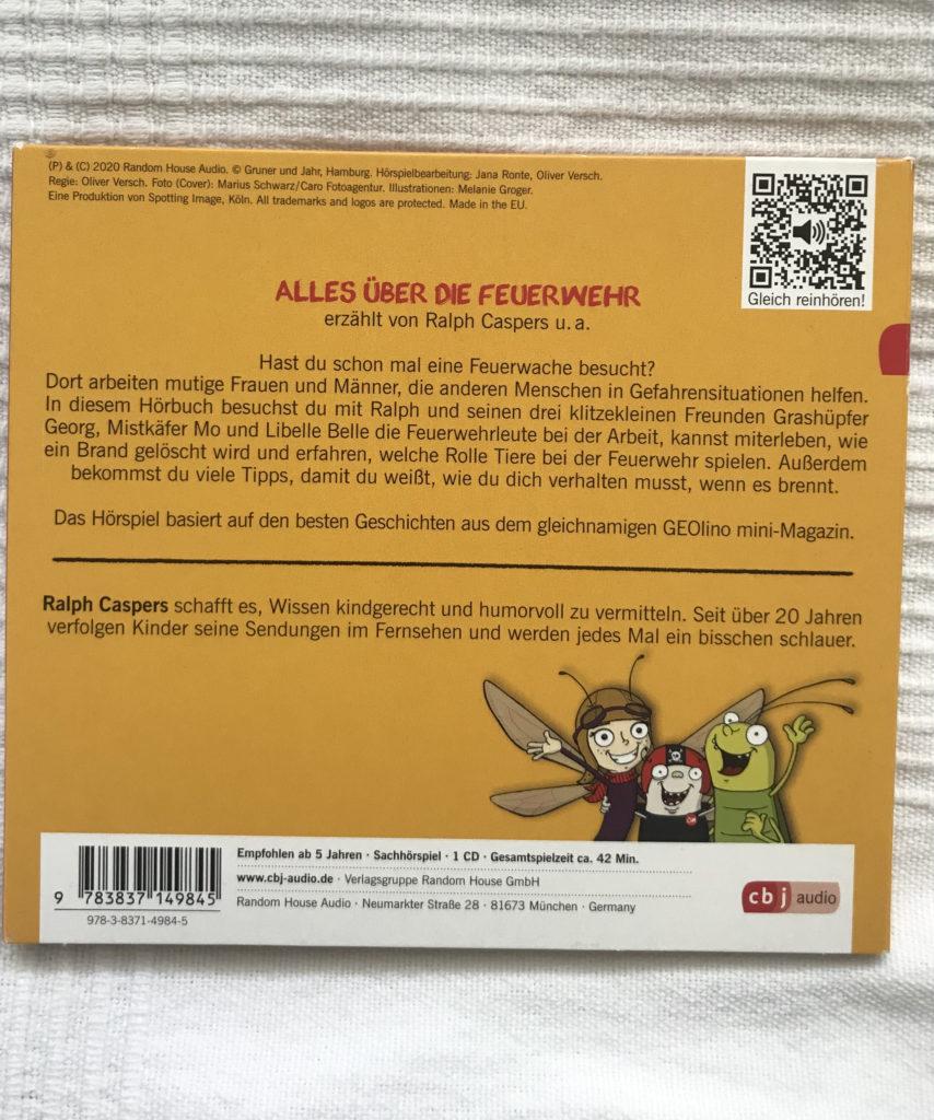 CD-Rückseite Geolin0 Mini Alles über die Feuerwehr