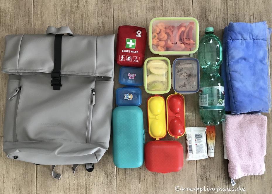 Was passt in unseren Rullen-Rucksack