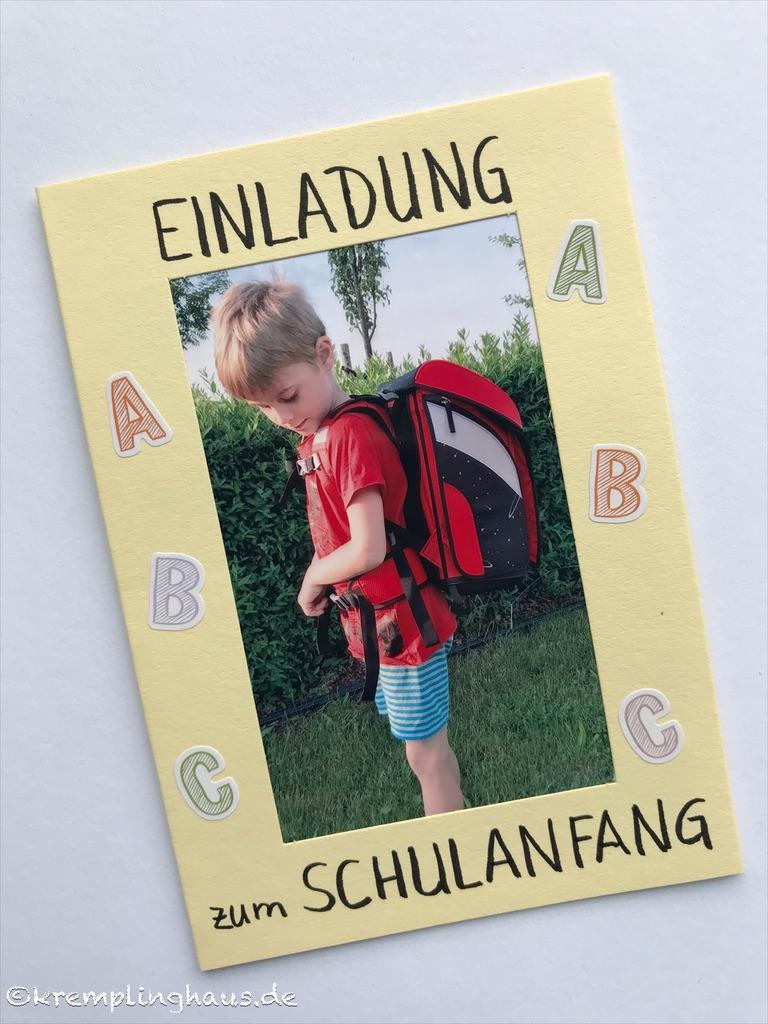 Einladungskarte zum Schulanfang