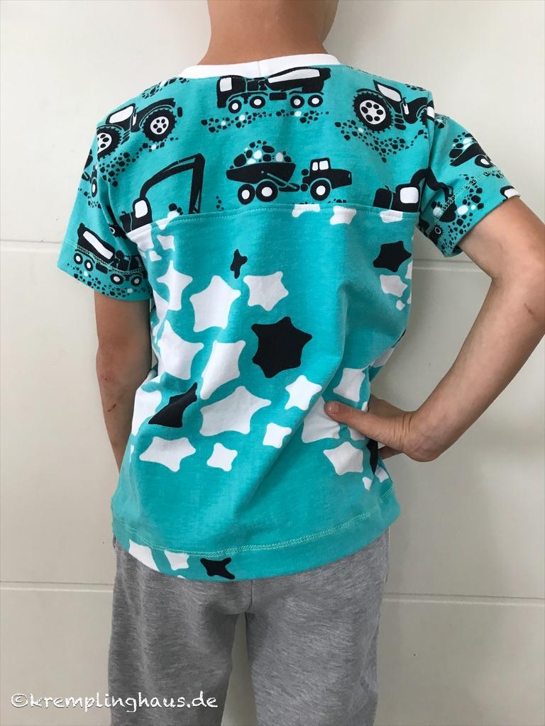 T-Shirt Baustelle Rückseite