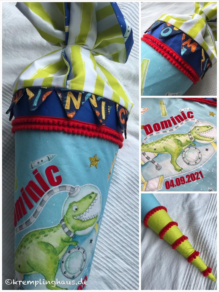 Schultüte Zuckertüte Dinosaurier