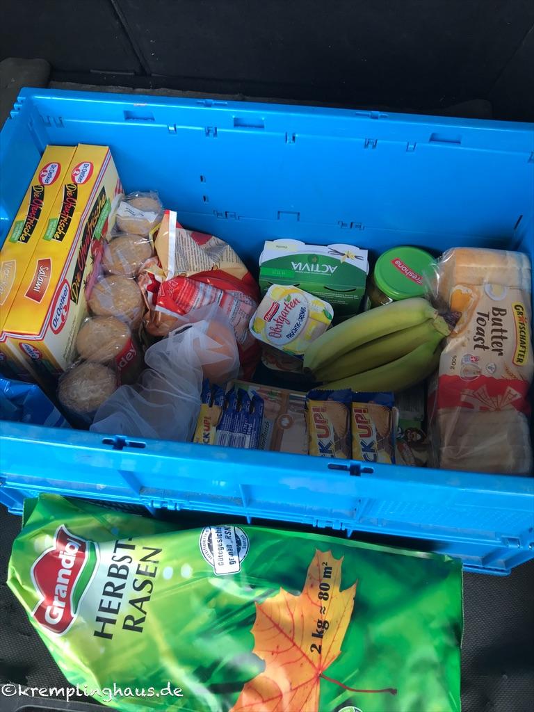 Kiste volle mit Lebensmittel